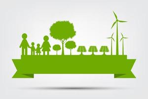 concept abstrait eco vert vecteur