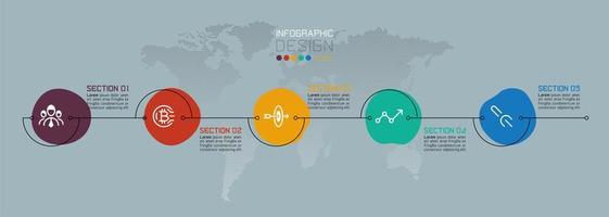 infographie d'affaires goutte d'eau colorée