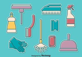Ensemble de collection d'outils de nettoyage à domicile