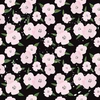 joli modèle sans couture de fleurs roses vecteur