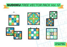 Sudoku pack vectoriel gratuit vol. 12