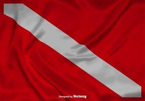 Fond de drapeau de plongée vectoriel réaliste