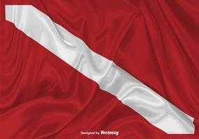 Illustration de drapeau de plongée vectorielle réaliste vecteur