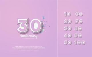 les chiffres de célébration d'arrière-plan sont de 10 à 100 vecteur