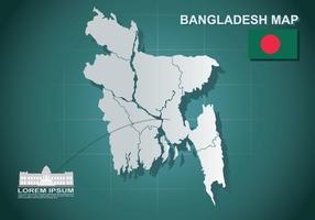 Illustration gratuite de la carte du Bangladesh