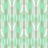 modèle sans couture d'ikat vert, blanc et rouge