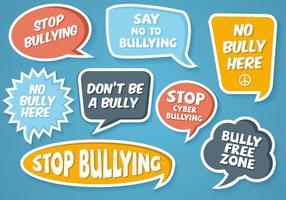 Vecteur bulle sans bullying gratuit