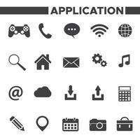 ensemble d'icônes d'application vecteur