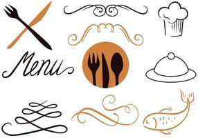 Vecteurs de menu hôteliers gratuits