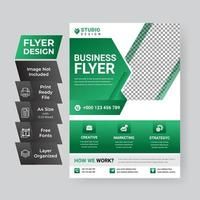 modèle d'affiche vert et blanc d'entreprise
