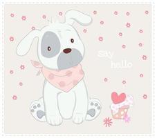 chien chiot avec foulard