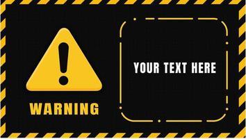 panneau d'avertissement jaune noir vecteur