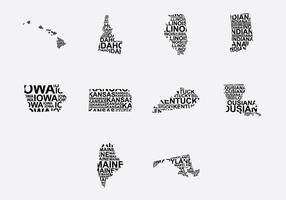 America map set set 2 vecteur