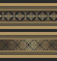 bordure ornementale fantaisie dorée