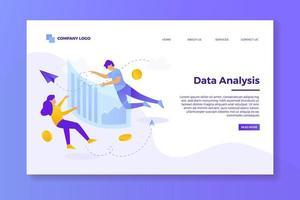 page de destination de l'analyse des données vecteur