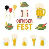 collection d'éléments du festival oktoberfest