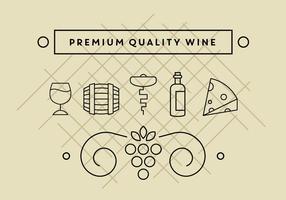 Icônes de vin gratuites vecteur