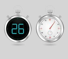 minuteries numériques et analogiques vecteur