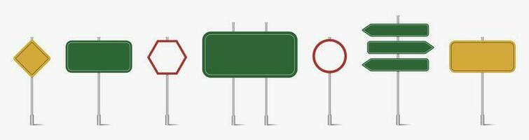 ensemble de panneaux de signalisation vierge vecteur