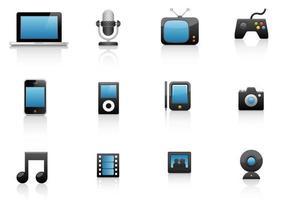 Paquet vectoriel d'icônes médiatiques