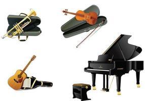 Pack de vecteur d'instruments réalistes