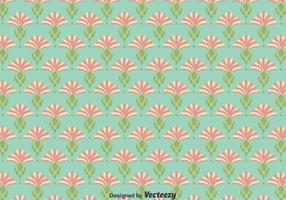 Flat Thistle Flowers Fond d'écran sans couture vecteur
