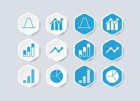 Icône d'infographie de Bell Curve