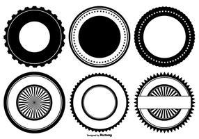 Formes de badges vectoriels rétro