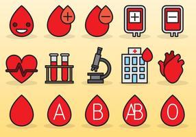 Des icônes de lecteur de sang mignon vecteur