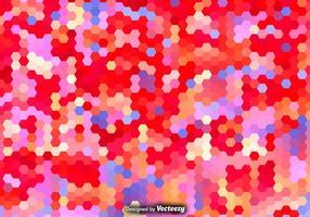 Modèle hexagonal vectoriel coloré