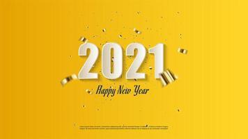 fond 2021 avec des chiffres blancs