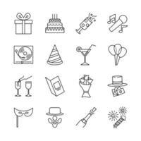 conception d'icône pour la fête d'anniversaire vecteur