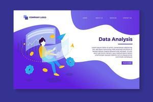 modèle de page de destination d'analyse de données vecteur