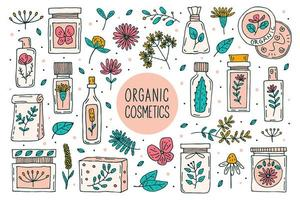 ensemble de cosmétiques biologiques naturels