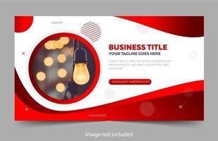 bannière d'affaires avec des courbes rouges métalliques vecteur