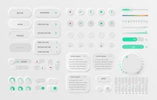 pack d'interface utilisateur blanc vecteur