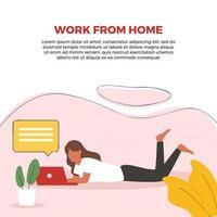 affiche de travail à domicile
