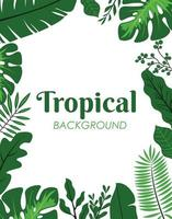décoration de feuilles tropicales vertes vecteur