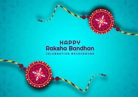 conception de festival indien bleu raksha bandhan vecteur