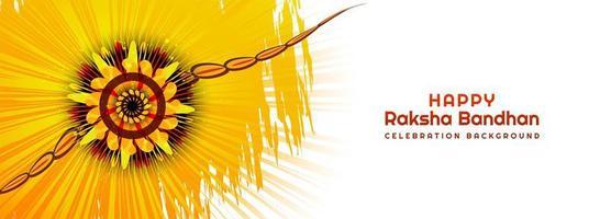 conception de bannière de festival hindou raksha bandhan vecteur