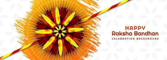 festival hindou raksha bandhan bannière vecteur