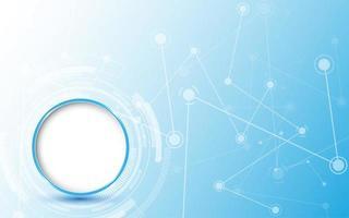 conception de technologie abstraite avec connexions de ligne de points