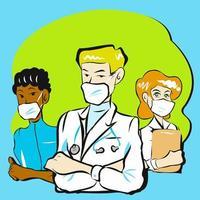 médecin et équipe