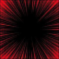 résumé en pointillé rouge, fond noir vecteur