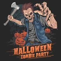 fête d'halloween zombie
