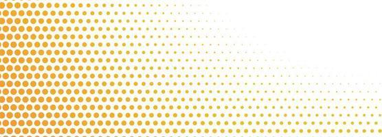bannière de points de demi-teintes orange abstrait vecteur