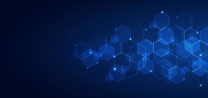motif géométrique de la technologie abstraite vecteur