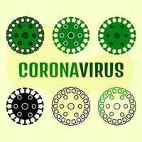 jeu de symboles de coronavirus vecteur