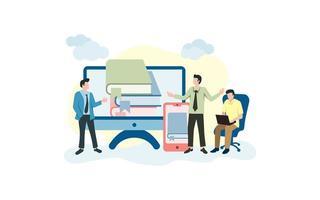 activité des gens liée à l'apprentissage en ligne vecteur