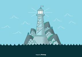 Vecteur de paysage de phare